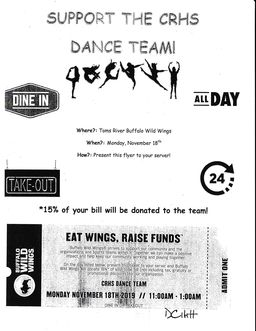 SUPPORT THE CRHS DANCE TEAM